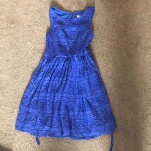 Justice beautiful royal blue dress size 10 girls